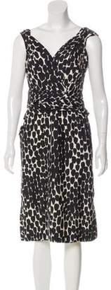 Gucci Printed Silk Dress Black Printed Silk Dress