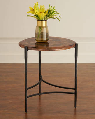 Global Views Twila Copper & Iron Side Table
