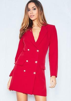 57e27066ac9 Missy Empire Missyempire Carly Red Tuxedo Mini Dress