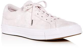 Converse One Star Suede Lace Up Sneakers