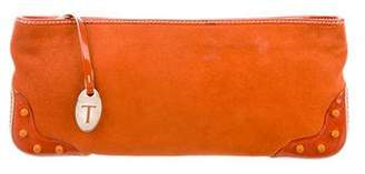 Tod's Suede & Leather Clutch