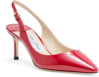 Jimmy Choo Erin 60 Red Patent Slingback Pumps