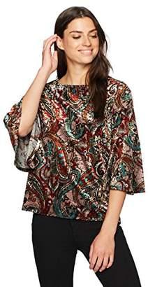 Kasper Women's Bell Sleeve Velvet Top