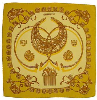 One Kings Lane Vintage Hermès Les Cavaliers d'Or Pochette Scarf
