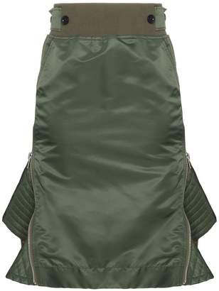 Sacai high waisted flared sides skirt
