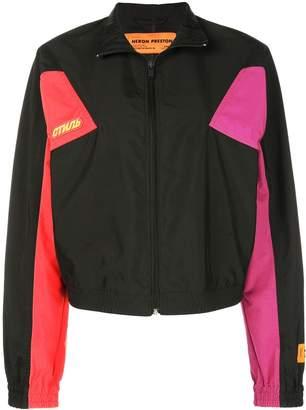 Heron Preston colour block zipped jacket