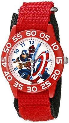 Marvel Kids' W002601 Captain America Time Teacher Analog Display Analog Quartz Watch