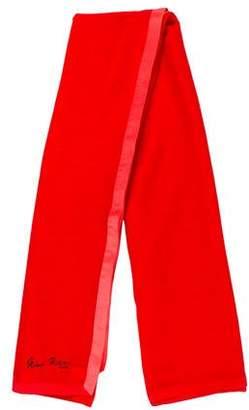Nina Ricci Wool Silk-Trimmed Scarf