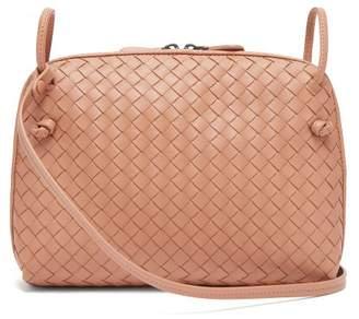 Bottega Veneta Nodini Small Intrecciato Leather Cross Body Bag - Womens - Nude