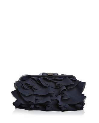 Aqua Chiffon Ruffle Clutch - 100% Exclusive