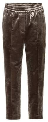 Brunello Cucinelli Velvet cropped trousers