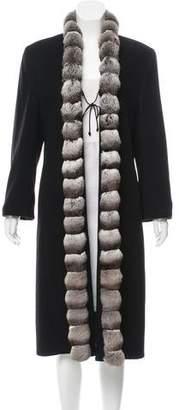 Fleurette Fur-Trimmed Cashmere Coat