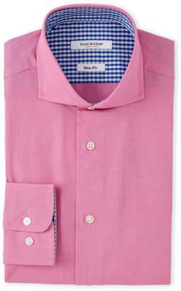 Isaac Mizrahi Fuchsia Ultra-Mini Star Check Dress Shirt