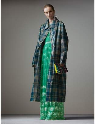 Burberry Tartan Soft-touch Plastic Oversized Car Coat