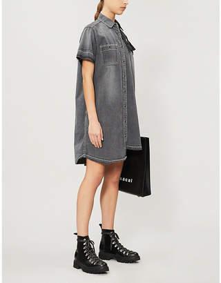 a68e4647eb Sacai Asymmetric panelled denim dress