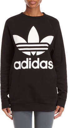 adidas Black Logo Oversized Sweatshirt