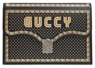 Gucci Guccy Logo Moon & Stars Envelope Clutch