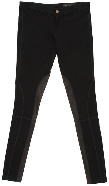Rag & Bone Leather panelled leggings