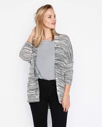 Express Drop Shoulder Shaker Knit Cover-Up