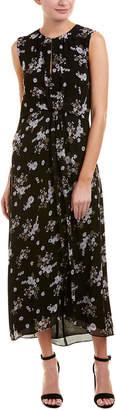 Vince Floral Silk Maxi Dress