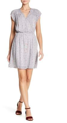 Daniel Rainn DR2 by Pleated Shoulder Printed Dress