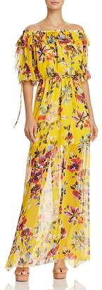 French Connection Linosa Off-the-Shoulder Floral-Print Maxi Dress