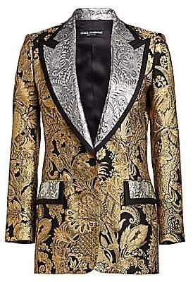 Dolce & Gabbana Women's Metallic Jacquard Blazer