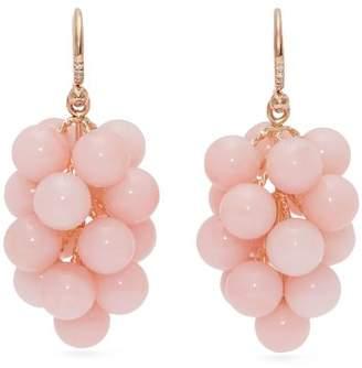 Irene Neuwirth 18kt gold, diamond & opal drop earrings
