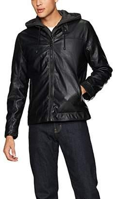 Buffalo David Bitton by David Bitton Men's Hooded Faux Leather Jacket