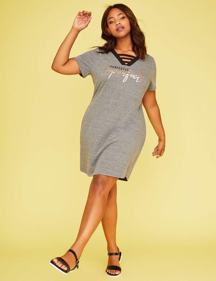 Perfectly Imperfect Graphic T-Shirt Dress