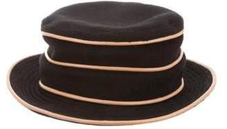 Hermes Cashmere Leather-Trimmed Hat