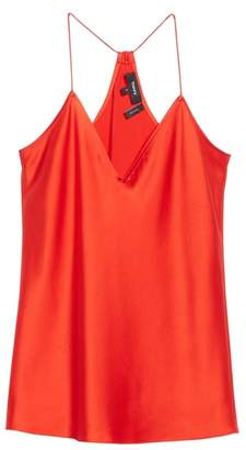 Theory Vintage Draped Back Slip Camisole Top