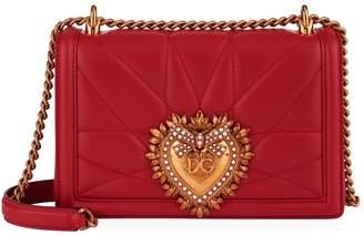 Dolce & Gabbana Medium Quilted Leather Devotion Shoulder Bag