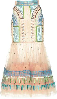 Temperley London Maze High Waist Skirt