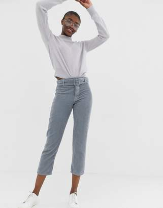Asos Design DESIGN Florence authentic straight leg jeans in chunky cord with buckle detail