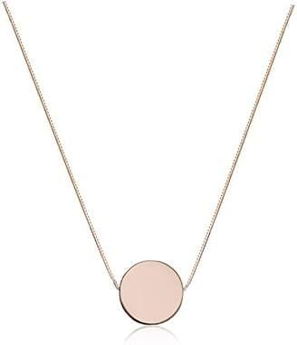 14k Rose Gold Floating Circle Pendant Necklace