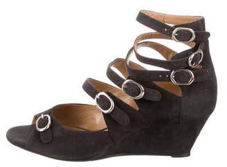 72cc854b301 Chloé Black Covered Wedge Women's Sandals - ShopStyle