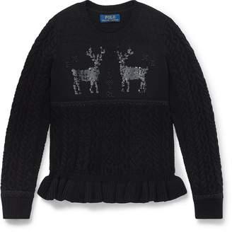 Ralph Lauren Embellished Reindeer Sweater
