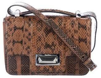 Max Mara Snakeskin Flap Crossbody Bag