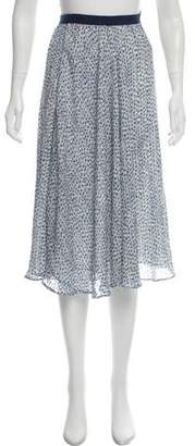 Band Of Outsiders Floral Print Knee-Length Skirt