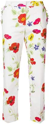 Blugirl floral print cropped trousers