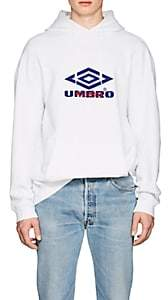 Vetements Men's Umbro-Print Cotton French Terry Hoodie - White