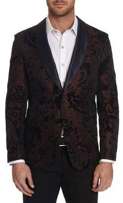Robert Graham Men's Chatsworth Textured Shawl-Lapel Sport Jacket w/ Contrast Reverse Collar