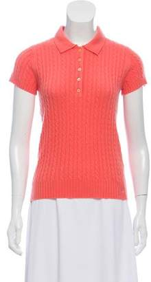 Burberry Cashmere Short Sleeve Top w/ Tags