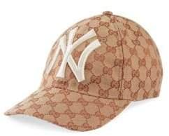 Gucci New York Yankees Logo Baseball Cap