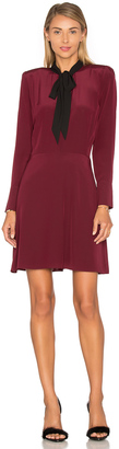 The Kooples Long Sleeve Tie Neck Dress $340 thestylecure.com