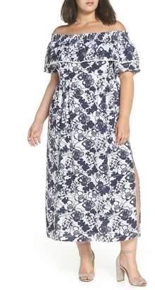 Chelsea28 Off the Shoulder Ruffle Maxi Dress