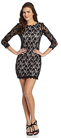 Adrianna Papell Sequin-Lace Dress