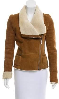 Barbara Bui Asymmetrical Shearling Jacket