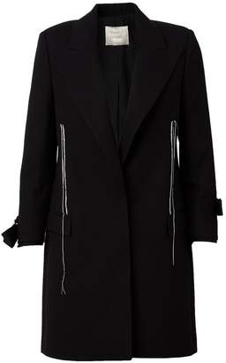 Lanvin exposed seam detail coat